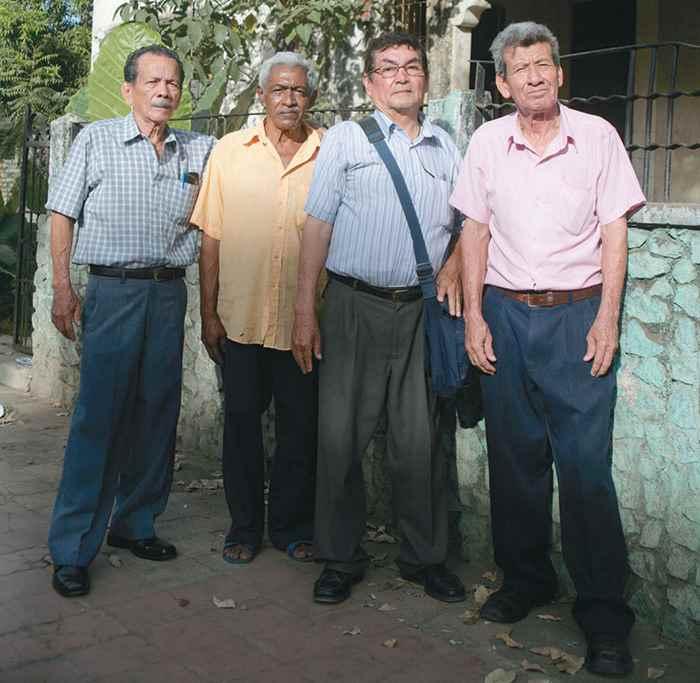 Protagonistas del asalto al banco de américa:Augusto Tercero Mora, Sidar Baca (no participó en el robo), Guillermo Mejía Cardenal (q.e.p.d.) y Edmundo Narváez.