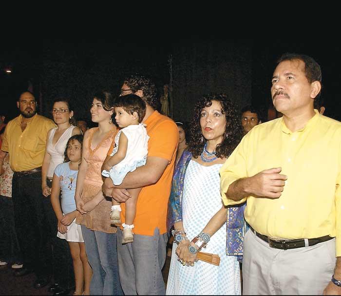 Familia-del-Presidente-Daniel-Ortega