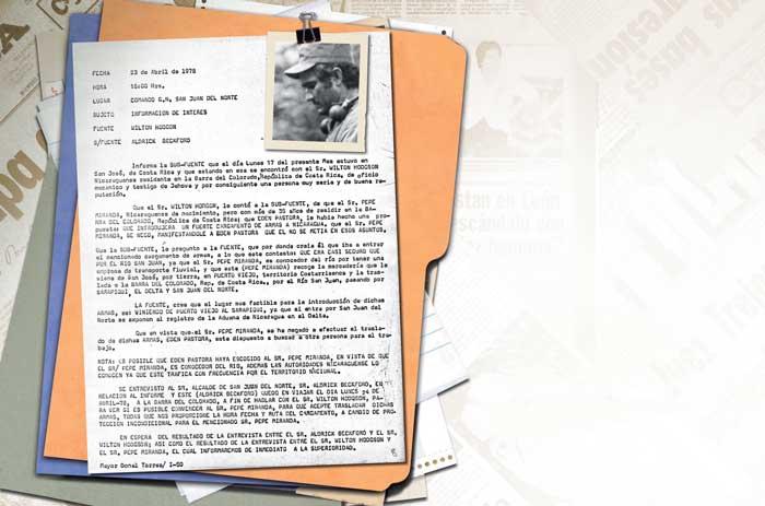 El documento que informa sobre las acciones de Edén Pastora es real