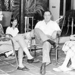 Reunión familiar. La ex presidenta Violeta Barrios de Chamorro