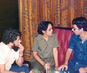Mónica Baltodano conversa con Lula (izquierda) y Frei Betto (derecha) en la primera visita al país que hicieran para el primer aniversario de la revolución Sandinista en 1980. Magazine/La Prensa/Cortesía